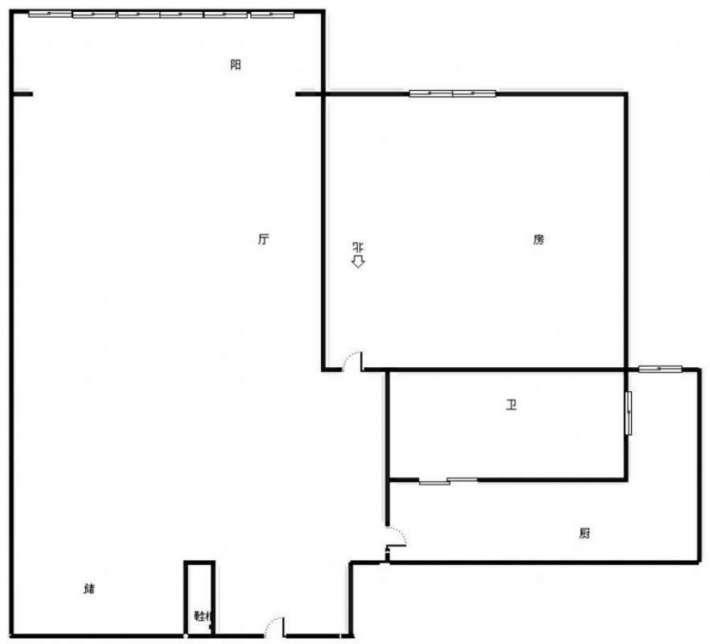 柴桑春天一区 标准的一房一厅一卫的户型,装修非常好的