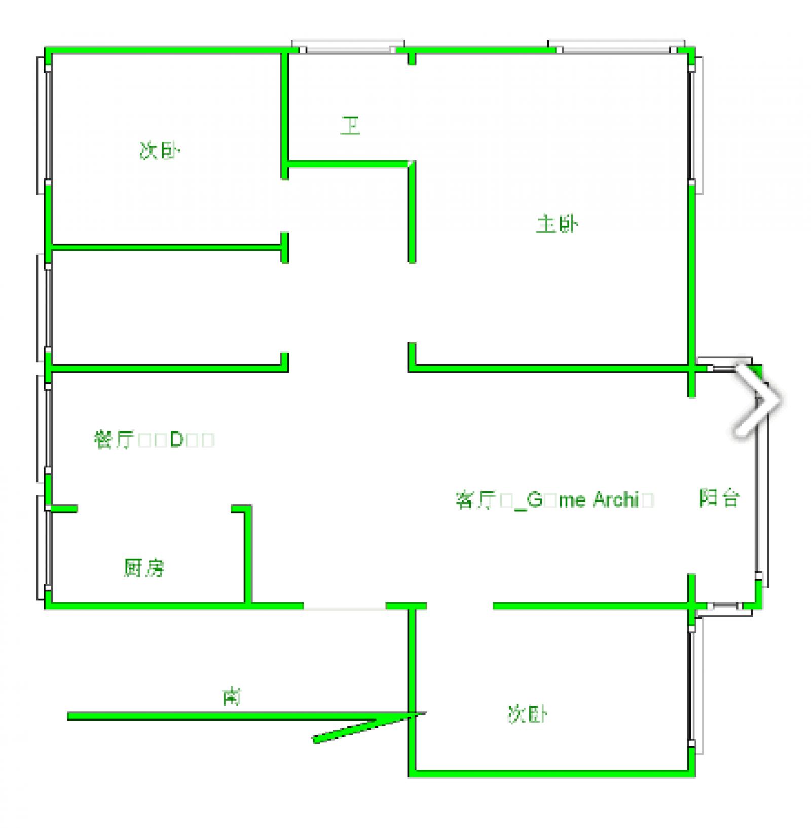 东方塞纳 3室2厅120㎡