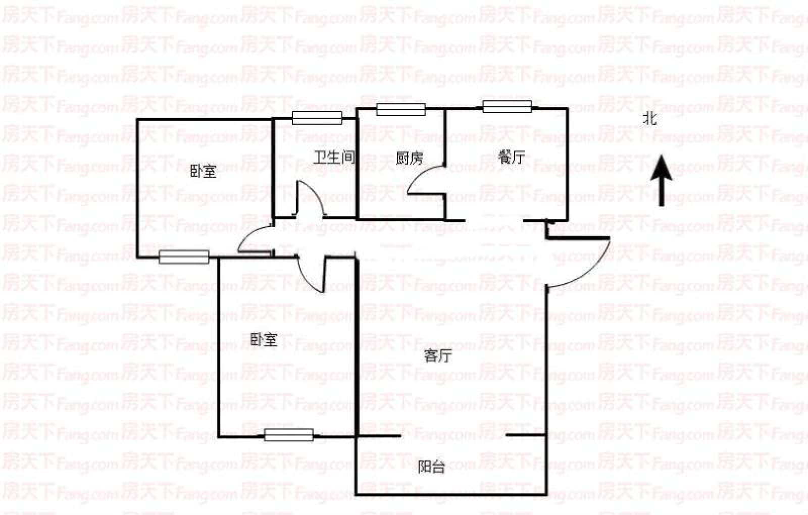 弘雅花园 2室2厅97㎡