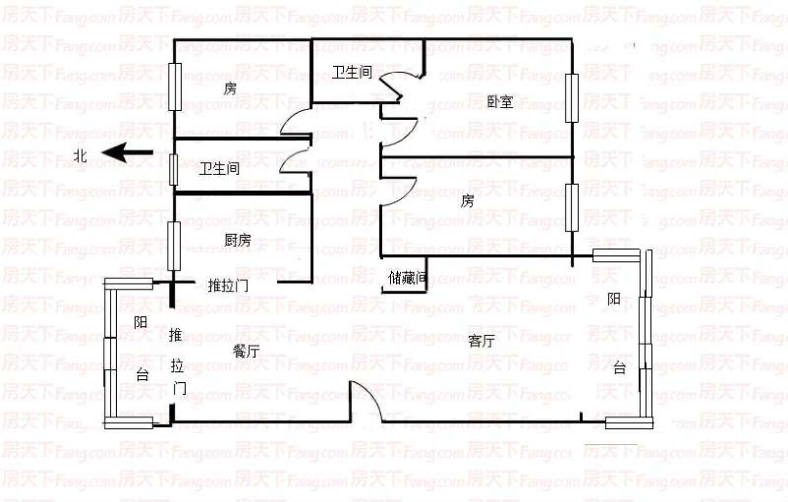 弘雅花园 3室2厅131.8㎡