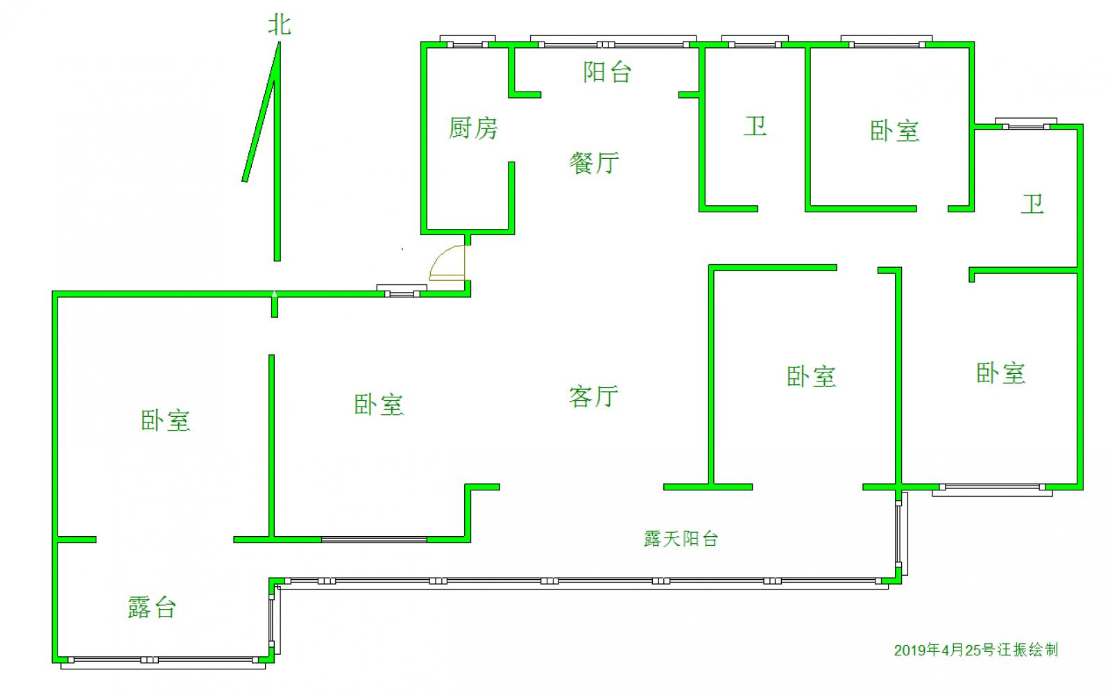 国瑞花苑 5室2厅159㎡