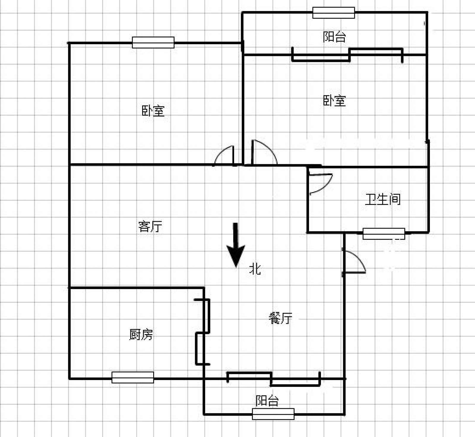 步红花园 2室2厅93㎡