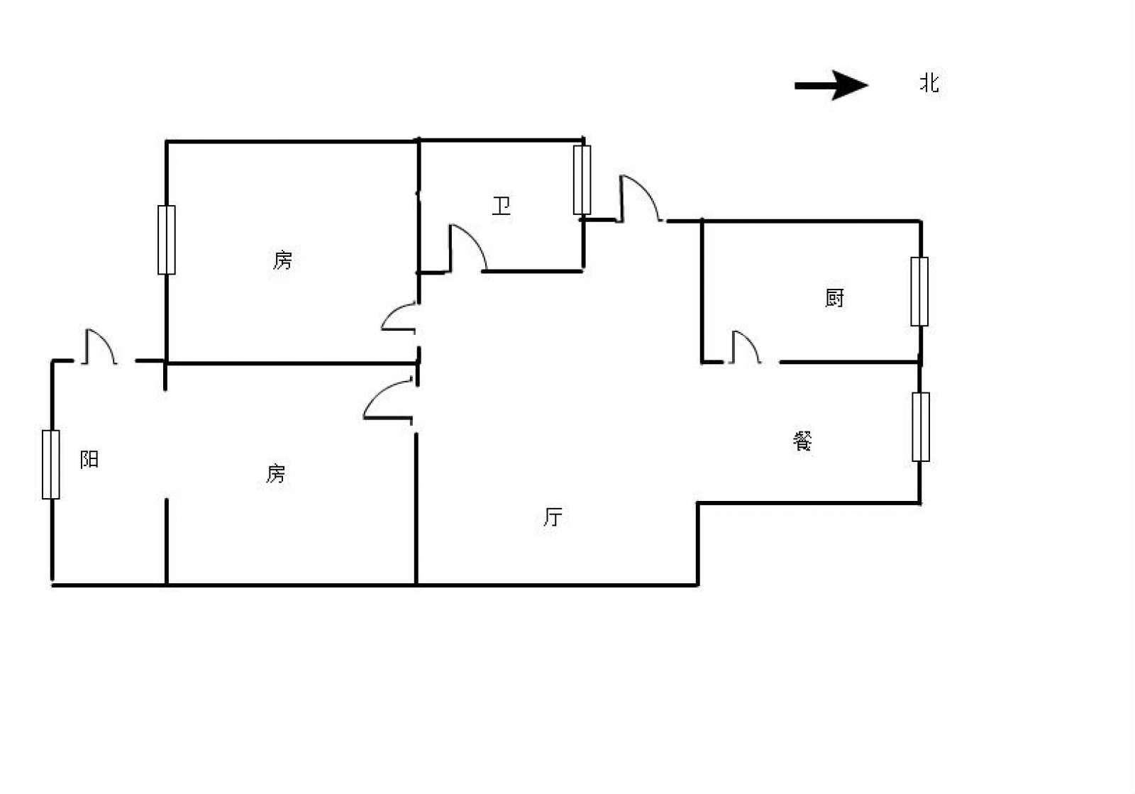 昌龙花园 2室2厅90㎡