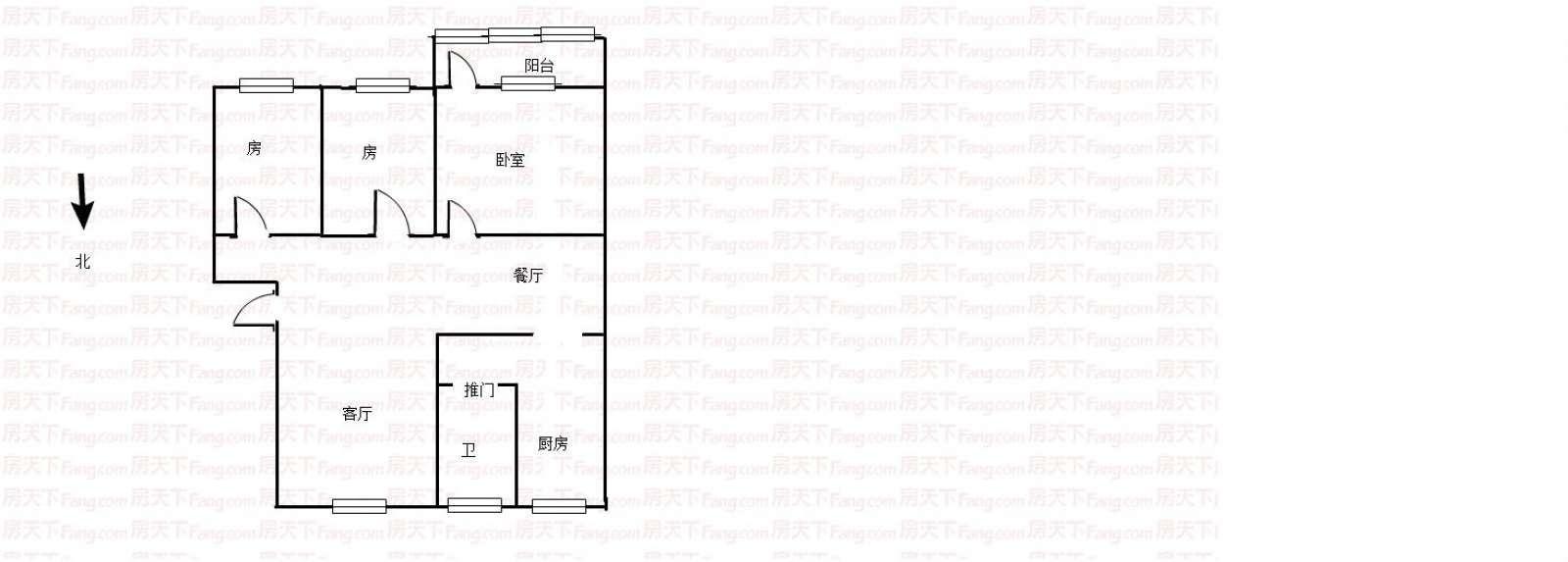 昌平花园 3室2厅95㎡