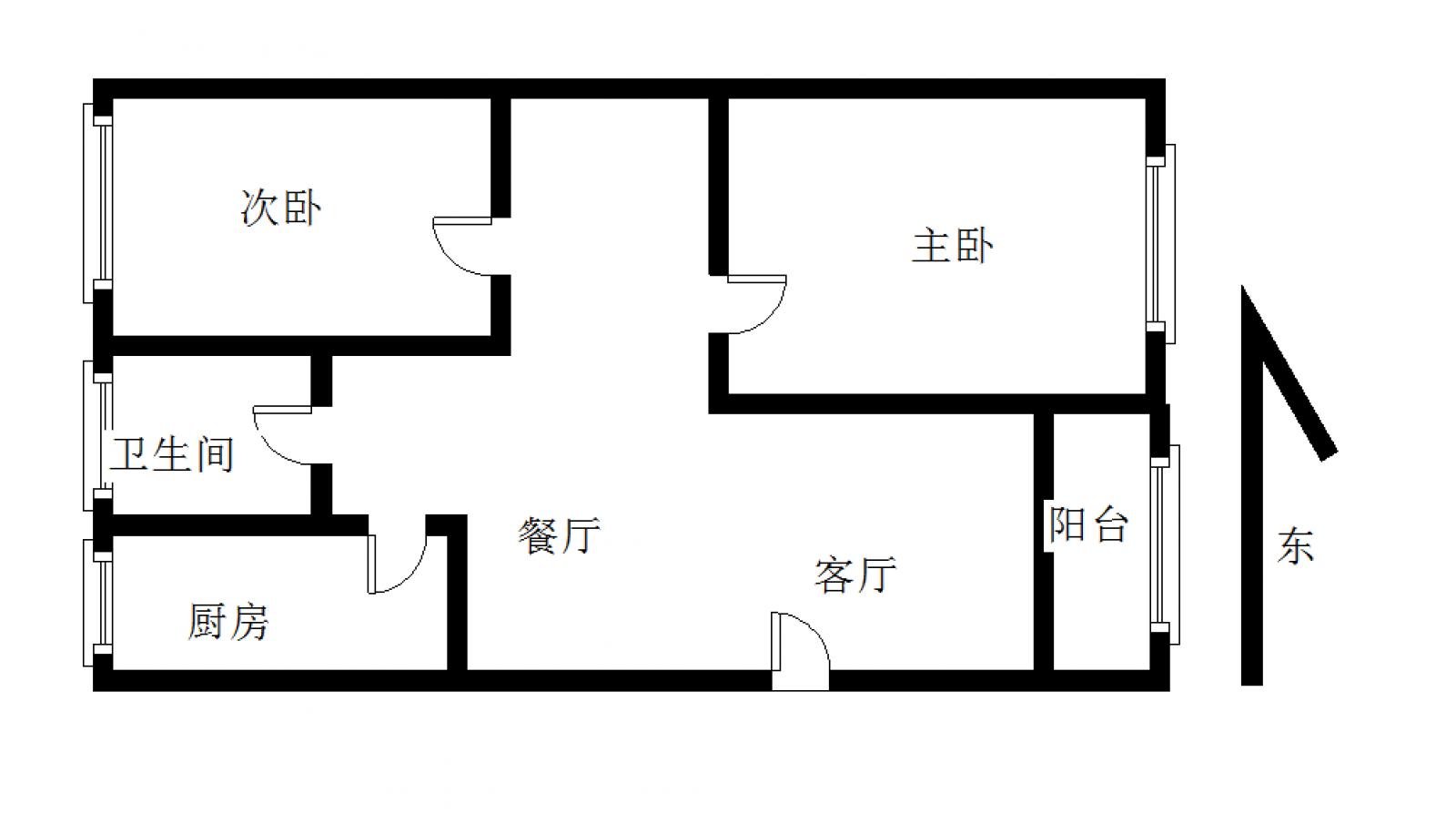 贵和小区 2室2厅91㎡