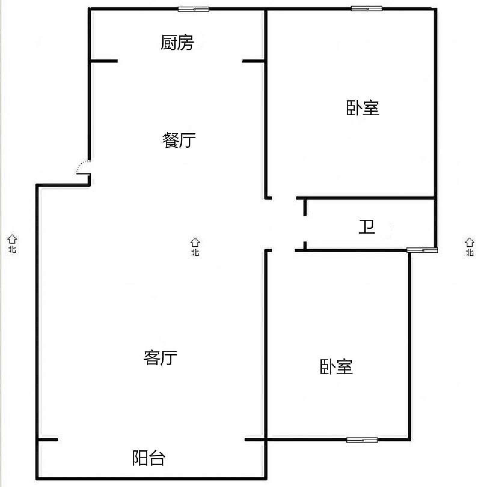 官牌夹安置小区 2室1厅70.11㎡