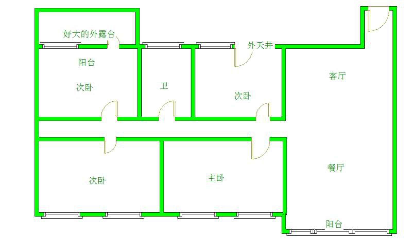 滨江花园 4室1厅205.5㎡