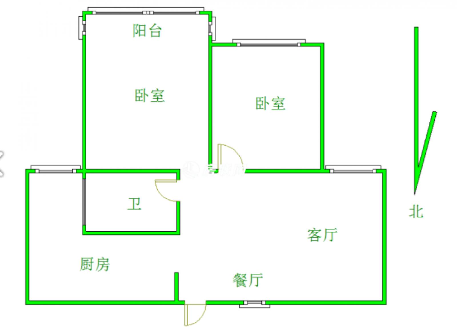 锦江国际 2室2厅93㎡