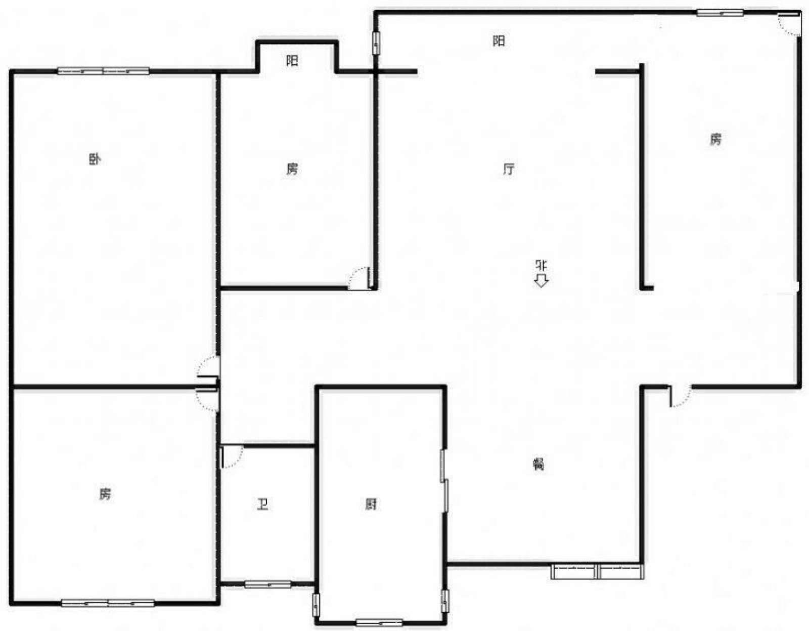 庐山苑 4室2厅117㎡