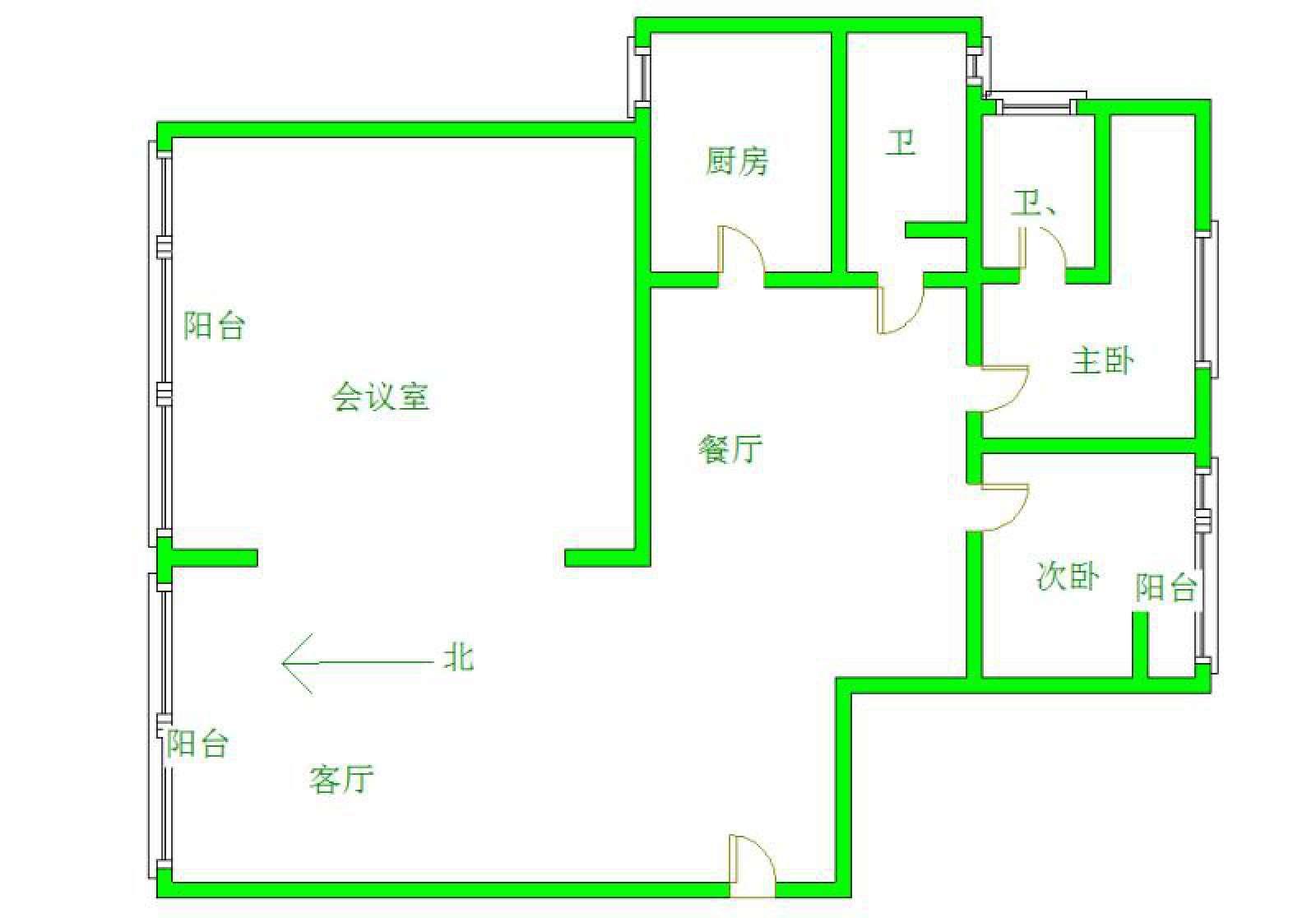 滨江国际 4室2厅205㎡