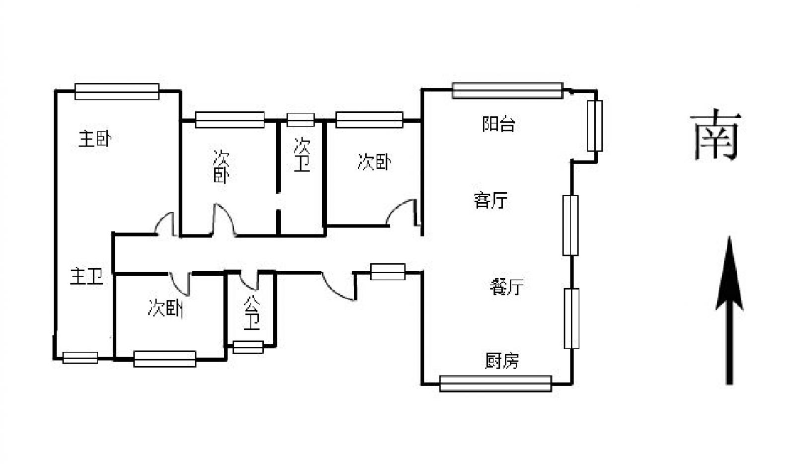 中奥广场 5室2厅210㎡