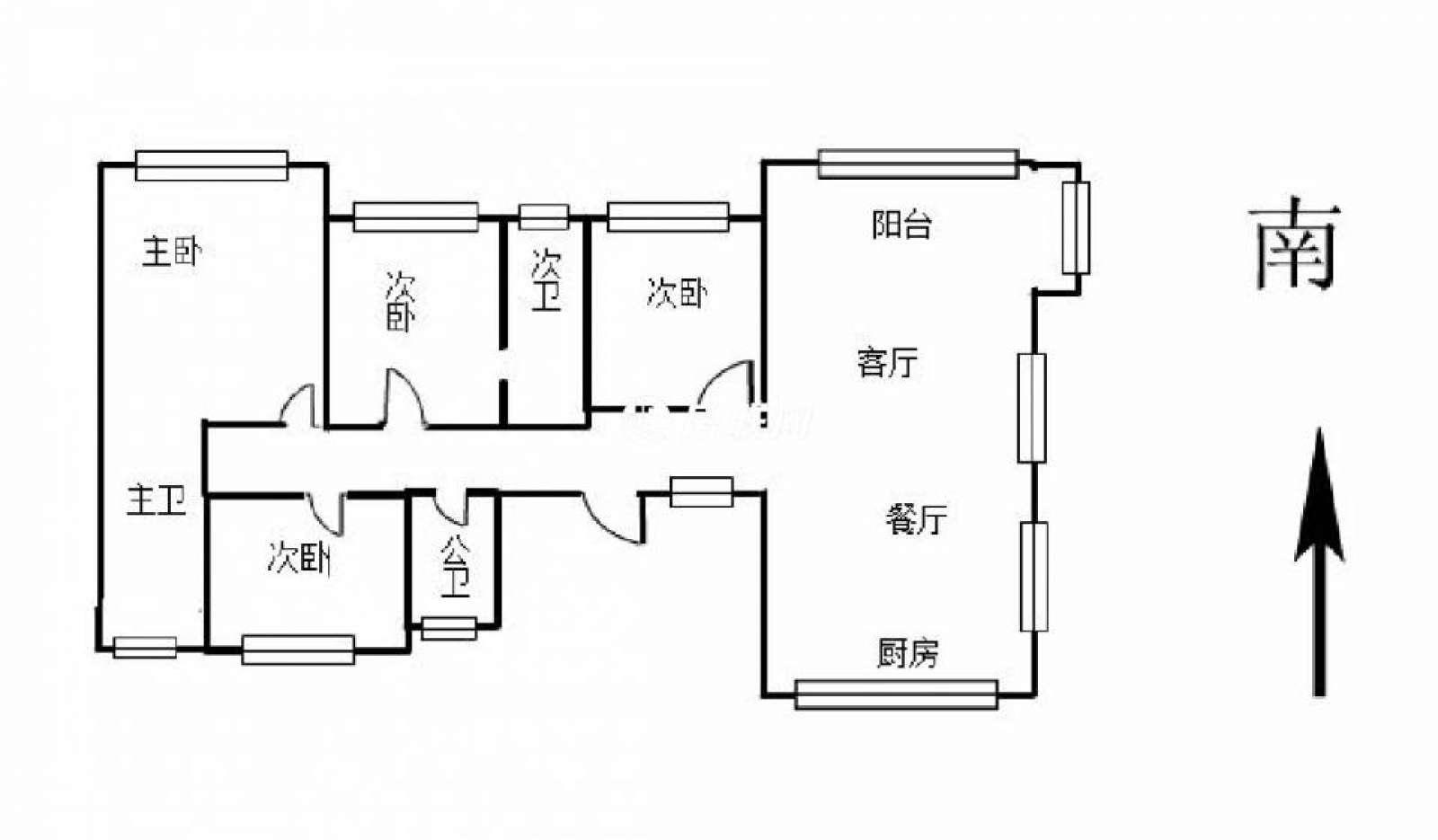中奥广场 4室2厅218.12㎡