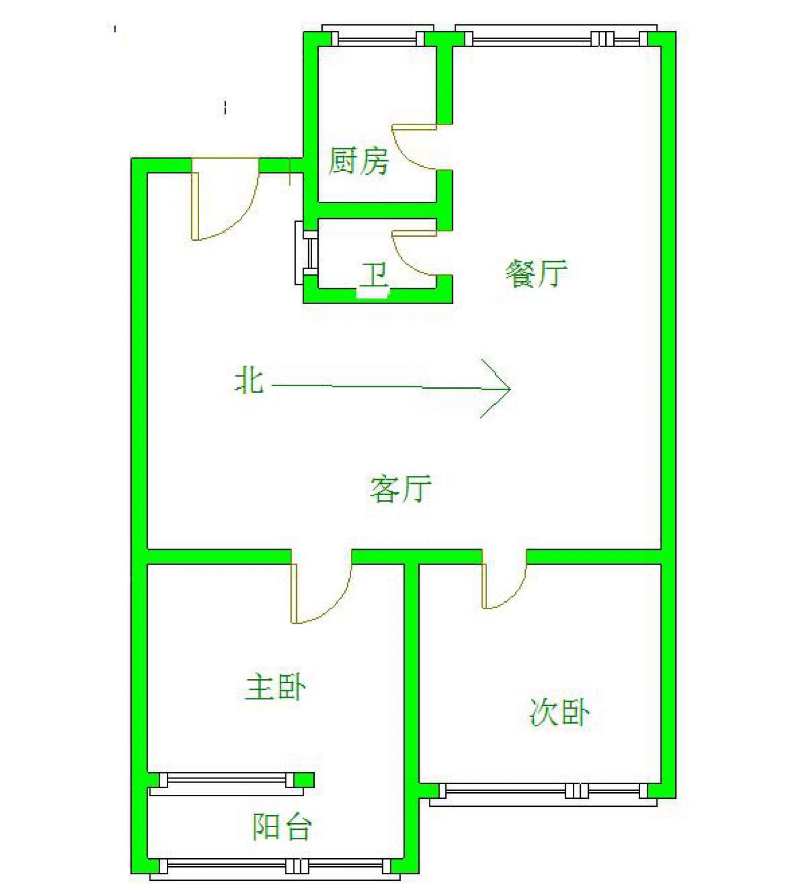 大中大附近 2室2厅100㎡