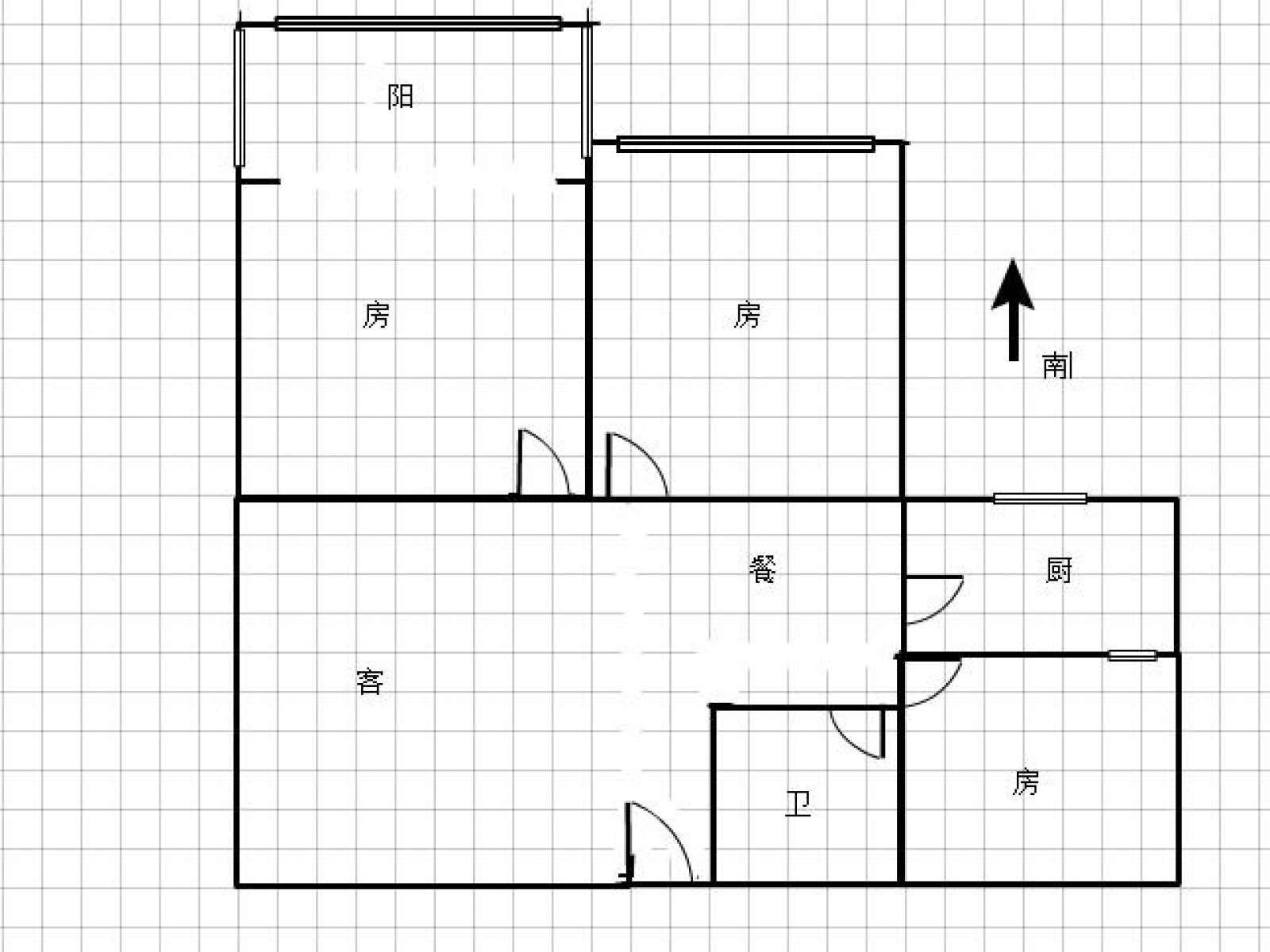 龙开御景 3室2厅82㎡