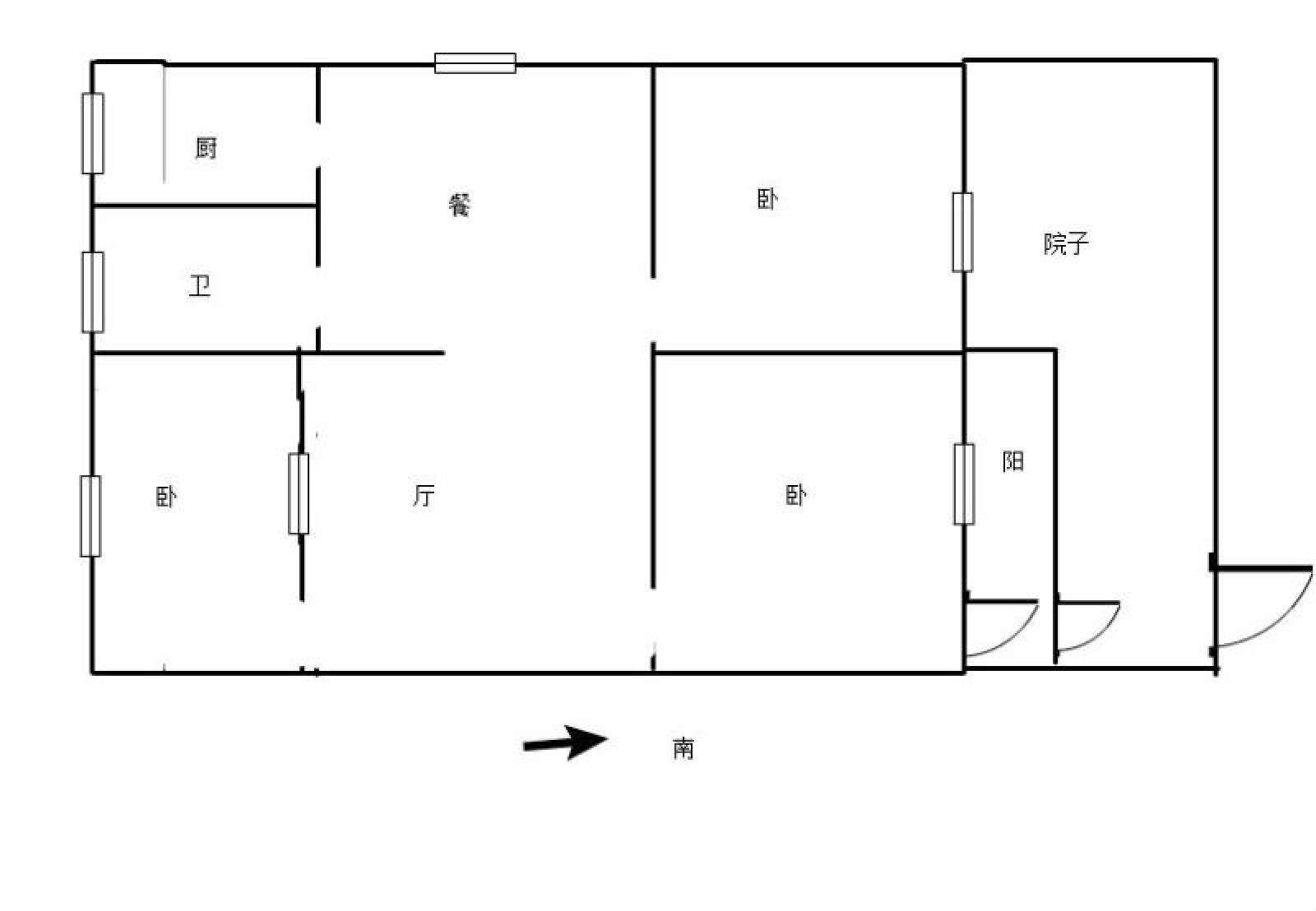 利江花园 3室2厅95㎡