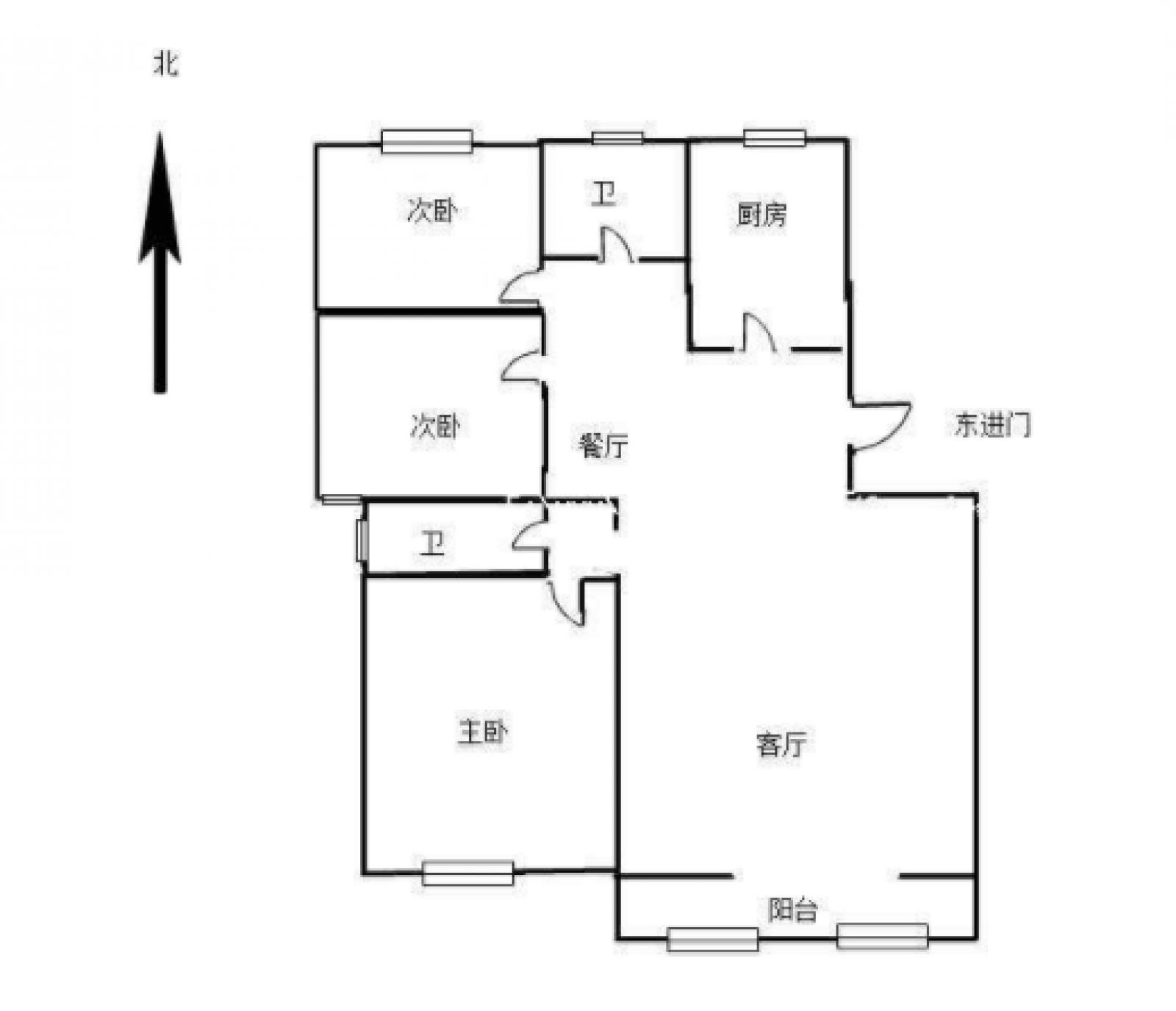 园艺小区 3室2厅121㎡