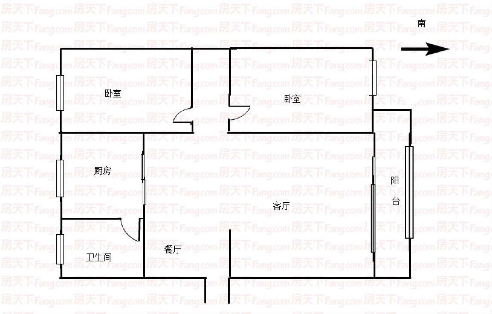 西苑小区 2室2厅92㎡