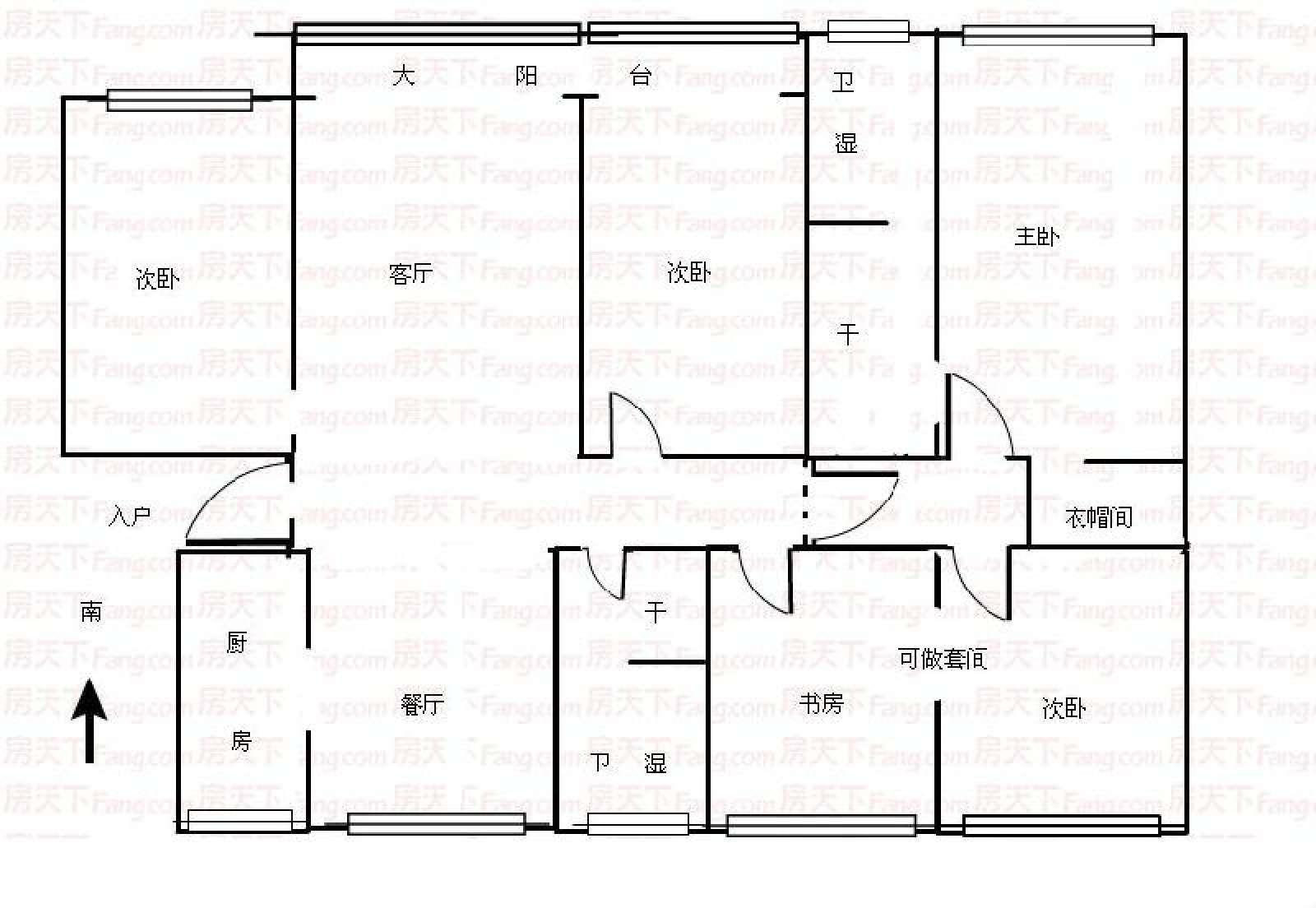 龙庭花园 5室2厅200㎡