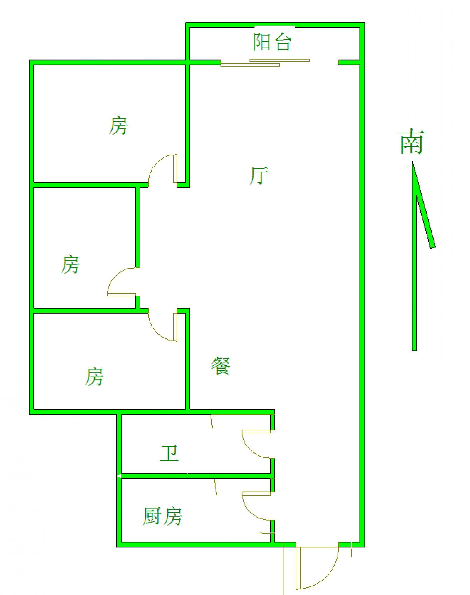 十里银都 3室2厅1卫 110㎡