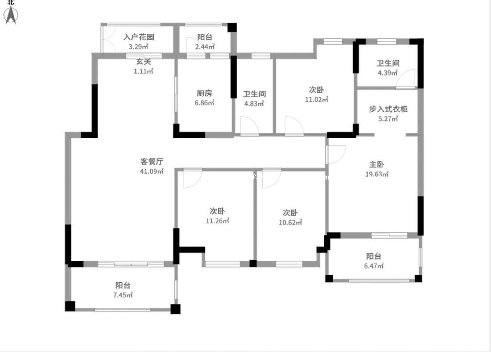 优品尚城 4室2厅146.8㎡