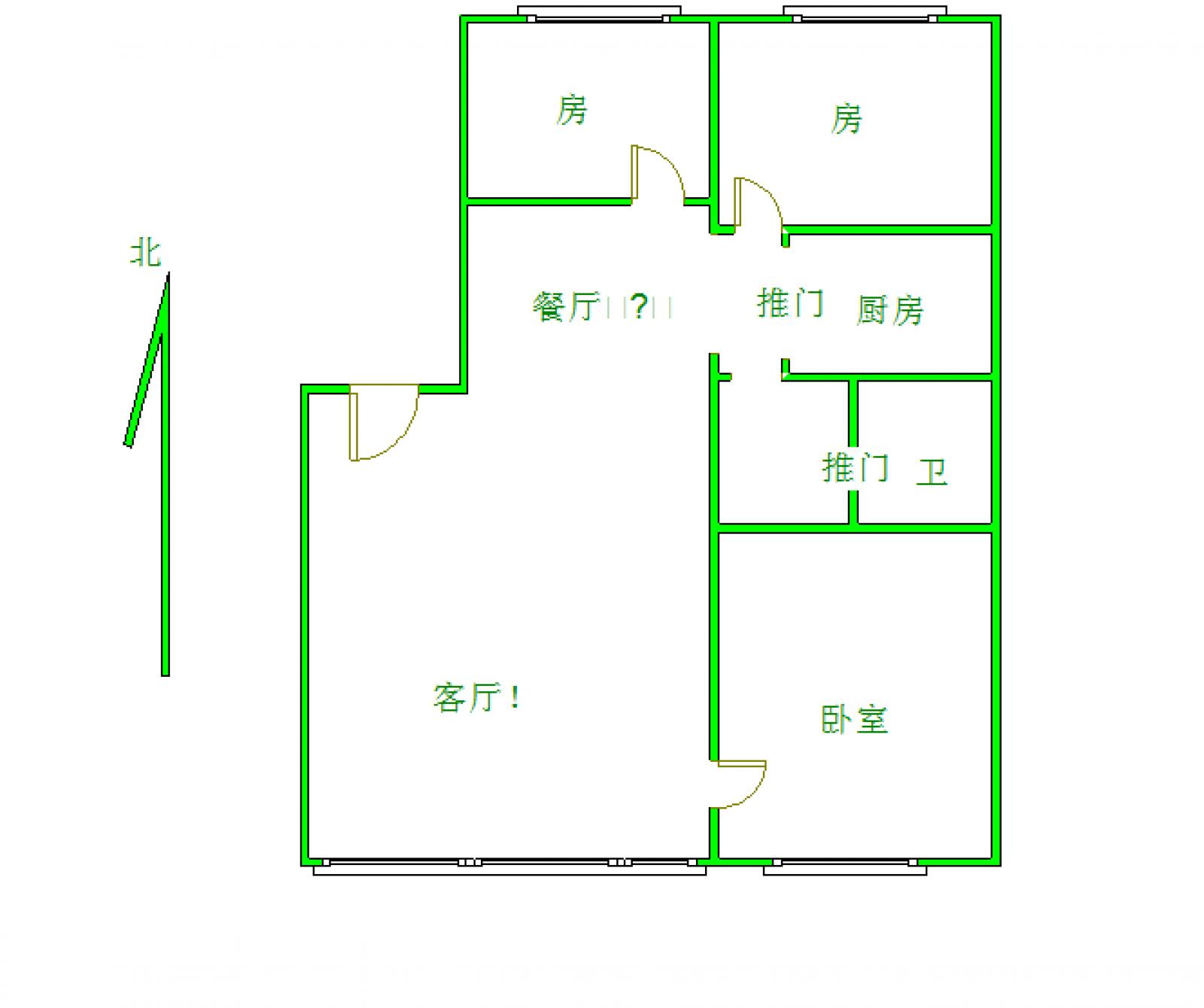 利江花园 2室2厅88㎡