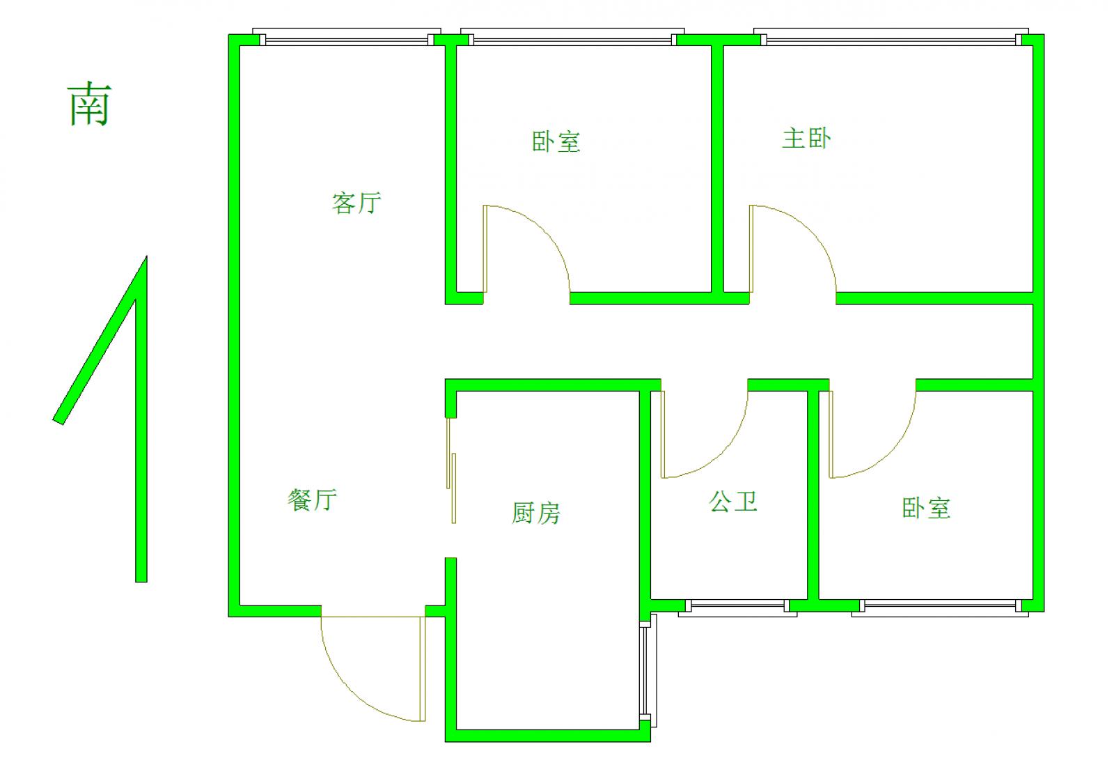 中奥广场 3室2厅99㎡