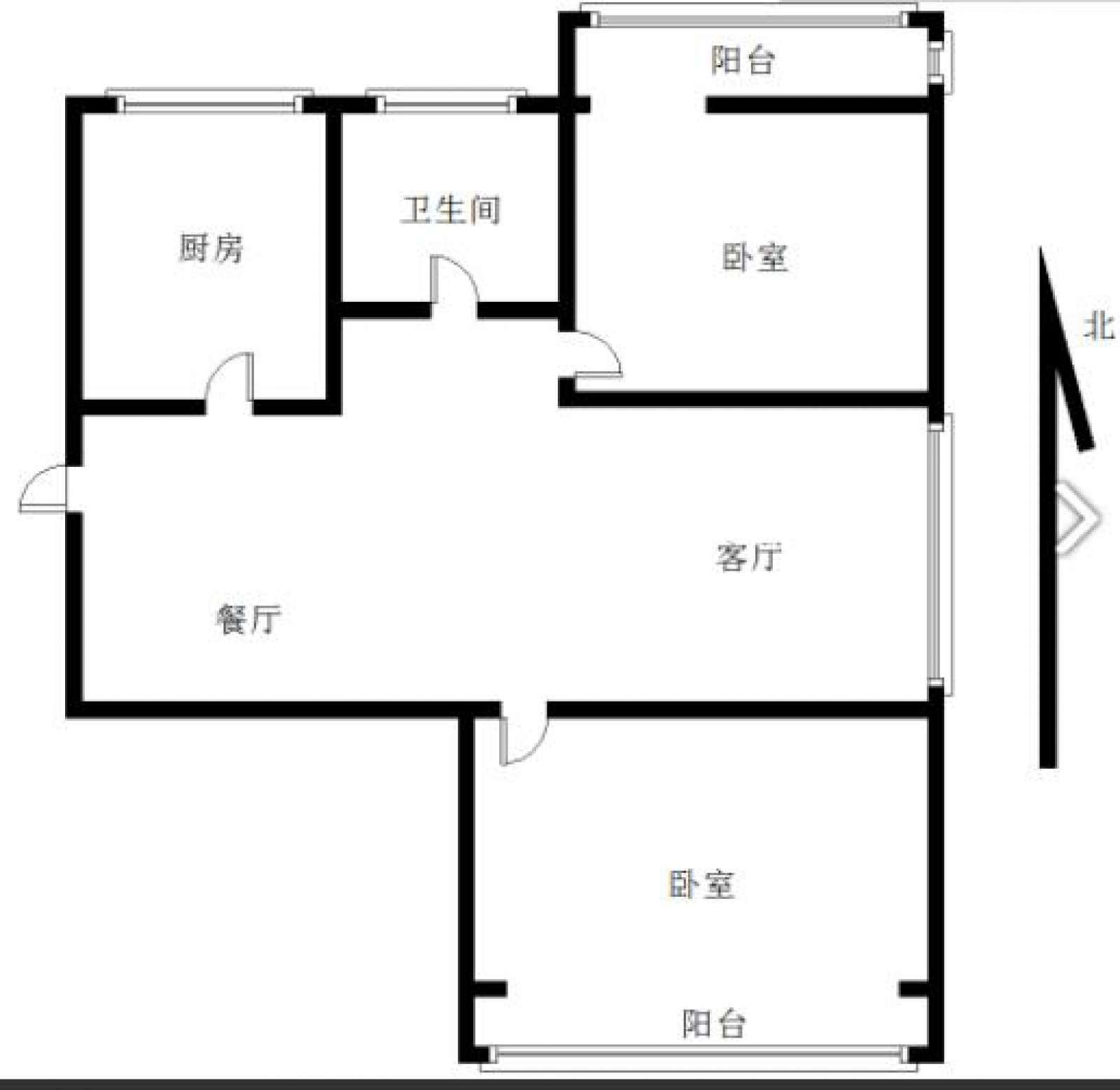 步红花园 2室2厅92㎡