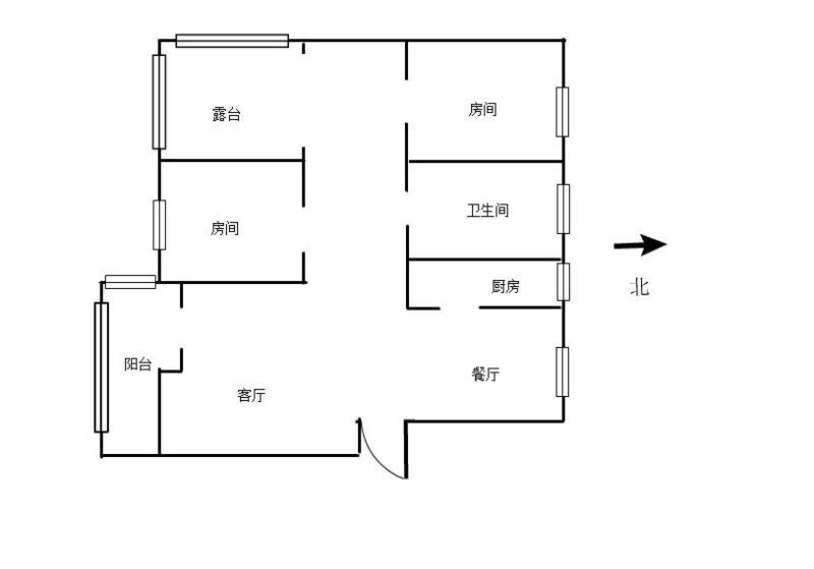 瑞景新城 3室2厅80㎡