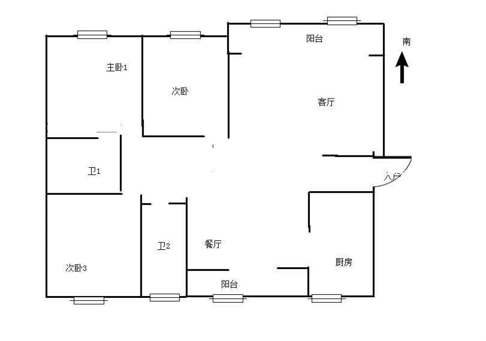 浔海领域 3室2厅128.6㎡