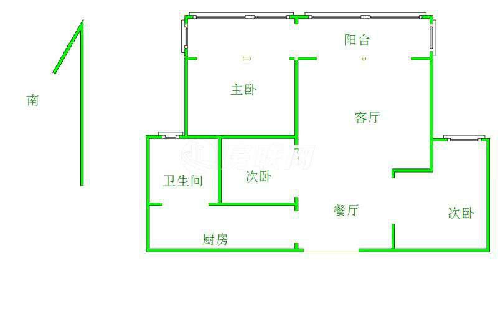 宜景湾 3室2厅93㎡