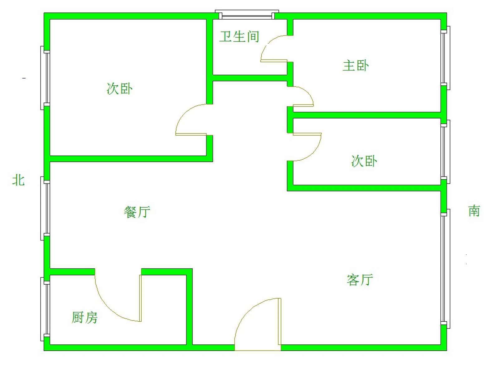 亿达蓝湾 3室2厅130㎡