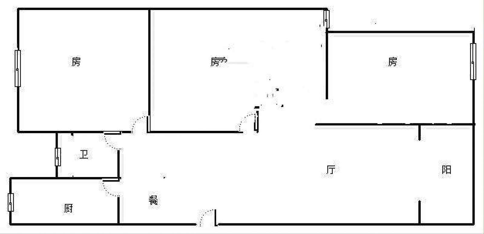 锦城嘉园 3室2厅93㎡