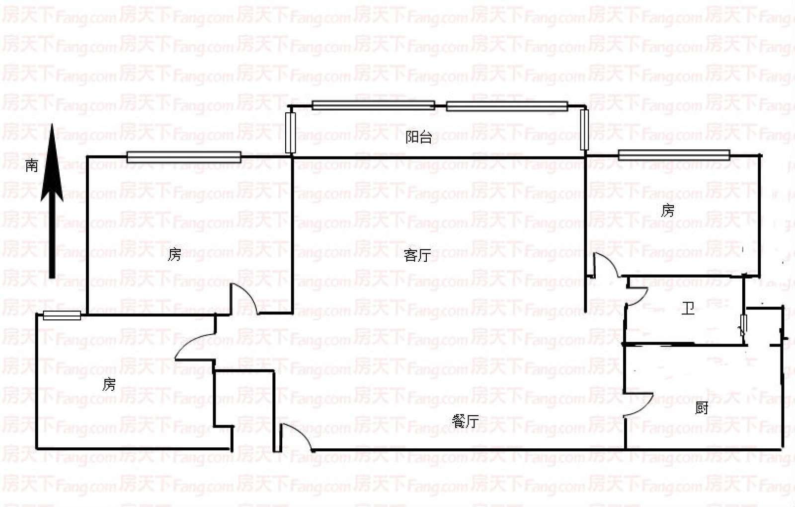 恒大江湾 3室2厅111.7㎡