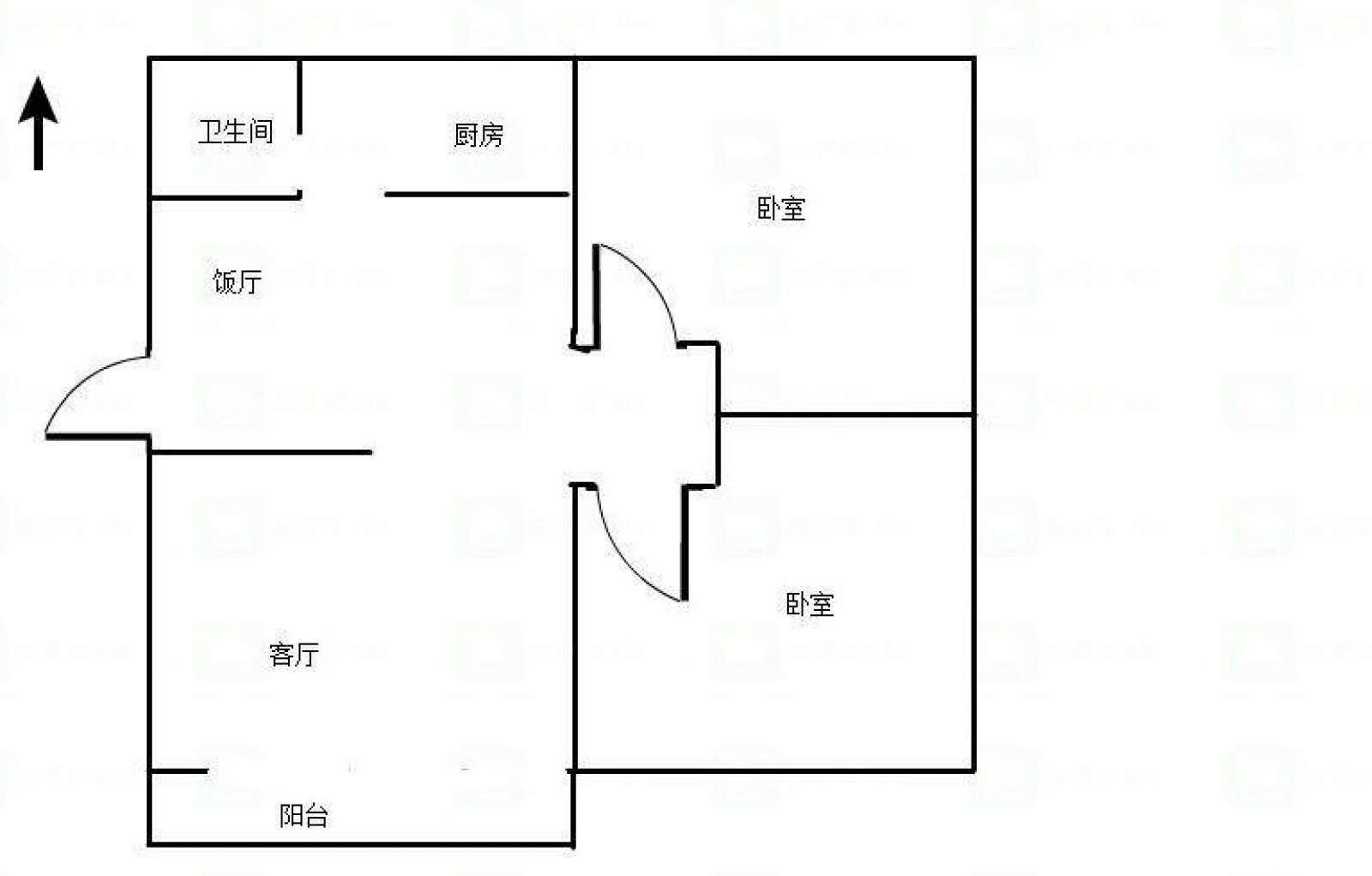 长安小区 2室2厅90㎡